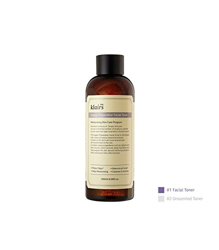 amazon.com - [KLAIRS] Supple Preparation Facial Toner, toner, moisturizer, without paraben and alcohol, 180ml, 6.08oz