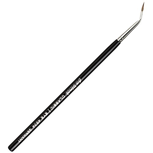 Da Vinci Brushes - da Vinci Cosmetics Series 4634 Classic Eyeliner Brush, Bent Pointed Russian Red Sable, 20.4 Gram