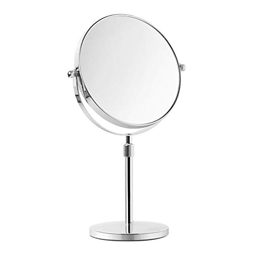 Makeup mirror - Makeup mirror LAOSUNJIA Bracket Liftable Double Side 360 ​​Degree Free Rotary HD Desktop for Family Hotel Hygiene Dressing Room Bathroom Dormitory