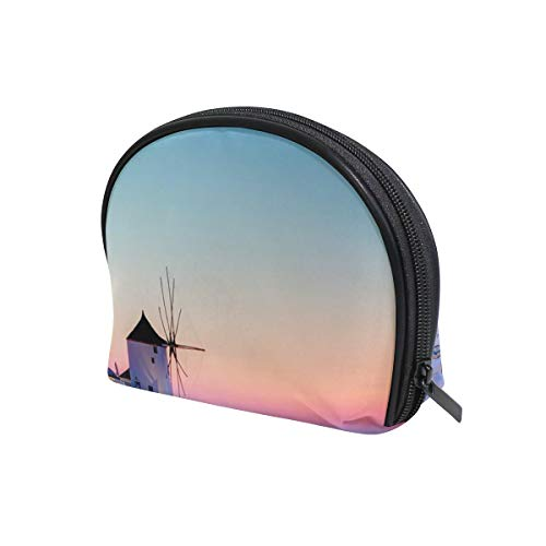 Unicey - Unicey Greece Santorini Caldera Sunset Landscape Makeup Bags Portable Tote Cosmetics Bag Travel Cosmetic Organizer Toiletry Bag Make-up Cases for Women