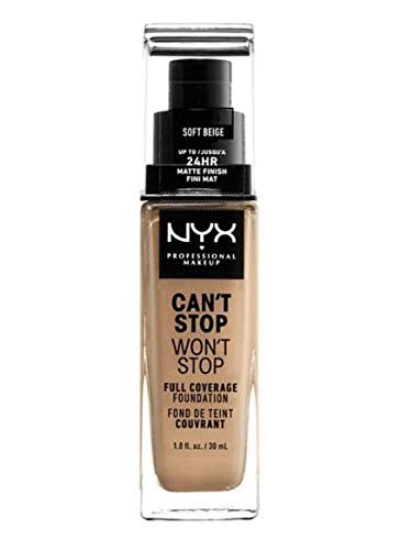 NYX - NYX Can't Stop Won't Stop 24-Hour Foundation 30ml - MEDIUM OLIVE