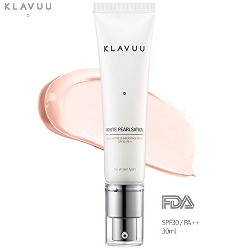 Klavuu - WHITE PEARLSATION Ideal Actress Backstage Cream UVB/UVA SPF 30 PA++, 5-in-1 Makeup Base + Primer + Sun Lotion + Fixer + Pearl Glow Base enveloping cream (30ml / 1.01 fl oz)