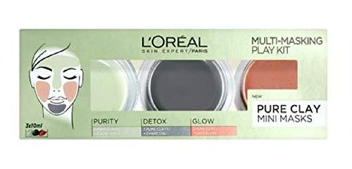 L'Oreal Paris - Exclusive New L'Oreal Paris Pure Clay Multi Masking Face Mask Play Kit 3x10ml