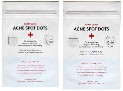 Peach Slices - Peach Slices Acne Treatments! Your Choice Of Acne Spot Dots Or Sheet Masks! Shrink Pores! Clarify! Hydrate! Firm! Calm! Brighten! Great For All Skin! (Two Pack Of Peach Slices Acne Spot Dot)
