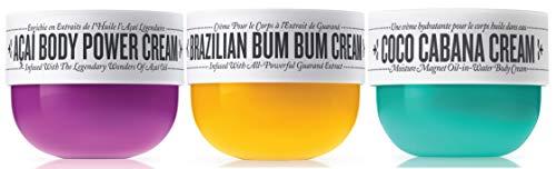 Sol De Janeiro - Sol de Janeiro Brazilian Bum Bum Cream, Coco Cabana Cream and Acai Body Power Cream Trio (75ml) - Bundle 3 pack
