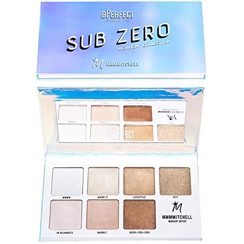 BPerfect - BPerfect Mmmmitchell Sub Zero Highlighter Palette Face Highlight Makeup Collection