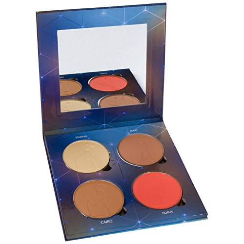 Adept Cosmetics - Natural Matte Face and Eye Palette with one Highlight, one bright pop of colour blush or eyeshadow, XL magnetic pans, great for contouring, natural highlighting, bronzing, all day eyeshadow