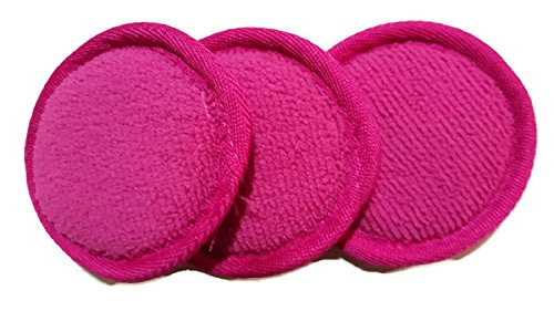 Versatility Deals - Face Pads Reusable Cotton Rounds 3 Pack (B. Pink)