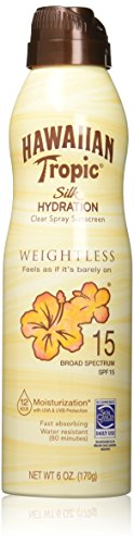 Hawaiian Tropic - Hawaiian Tropic Sunscreen Silk Hydration Moisturizing Broad Spectrum Sun Care Sunscreen Spray - SPF 15, 6 Ounce