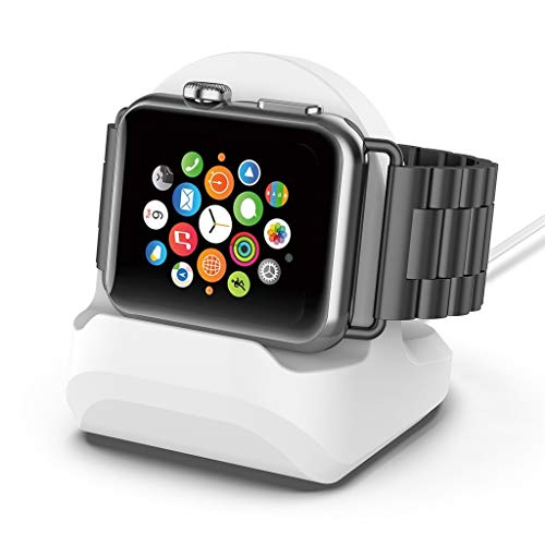 yuemizi - Yuemizi Applicable to Apple Watch 4/3/2/1 Series Silicone Charging Stand Bracket Bracelet Apple Watch Apple Watch Charging Stand Silicone White