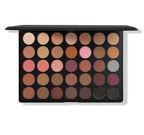 Morphe - Morphe Pro 35 Color Eyeshadow Palette Matte 35N - Professional makeup powder palette with intense pigment