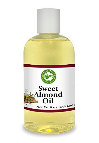 Creation Pharm - Sweet Almond Oil 8 oz. Creation Farm 100% Pure Aromatherapy Natural Skin Care Carrier Oil - Aceite de Almendras Dulces Portador