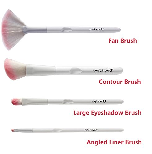 Wet N' Wild - Wet n Wild White & Pink 4-pc Brush Bundle set