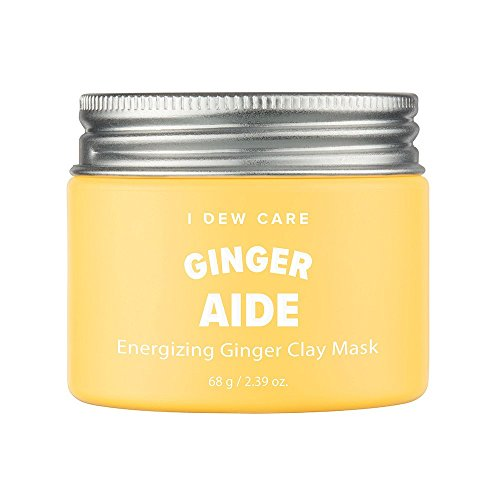 I Dew Care I Dew Care Magic Clay Mud Mask #GINGER AIDE(Energizing Ginger) 2.46 Ounces, Yellow jelly clay masks, Cleanse pores, Hydrate skin, Brightens dull skin, Facial healing mask, Clay mask for face