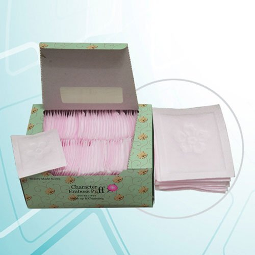SoonSom - SoonSom Korea - Embossed Cotton Pads Made with 100% Natural Cotton 100pc (Pink Cotton)
