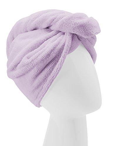 Turbie Twist - Turbie Twist Microfiber Hair Towel Wrap [Single Pack] – The Original Microfiber Hair Wrap As Seen On TV! Available in Pink, Blue, Purple and Aqua Hair Turban Towel Wraps (Purple)