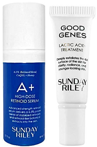 Sunday Riley - Sunday RiIey Good Genes Lactic Acid Treatment & A+ High Dose Retinoid Serum Deluxe Travel Size, 2 Piece Set