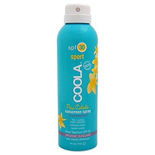 Coola Suncare - COOLA Organic Suncare, Eco-Lux Size, Pina Colada Body Sunscreen Spray, SPF 30, 8 fl. Ounce