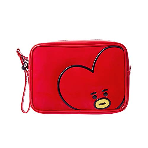 BT21 - BT21 Official Merchandise by Line Friends - TATA Enamel Cosmetic Bag Travel Pouch for Toiletry and Makeup