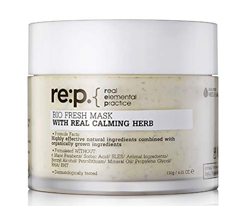 Re:P - RE:P Bio Fresh Mask Real Calming Herb Facial Peel-Off Natural for Sensitive Skin Moisturizer - 4.55 o.z
