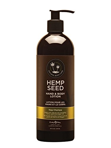 Earthly Body - Earthly Body All Natural Hand and Body Lotion with Hemp Seed and Argan Oil - Nag Champa Huge 16 oz.