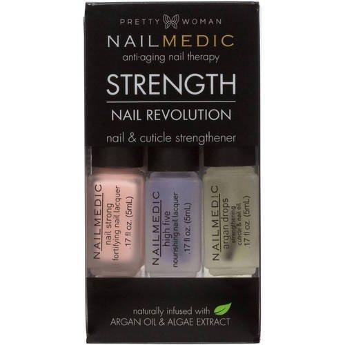 Pretty Woman - Pretty Woman NAIL MEDIC Nail Revolution STRENGTH Nail & Cuticle Strengthener with Argon Oil & Algae Extract VEGAN