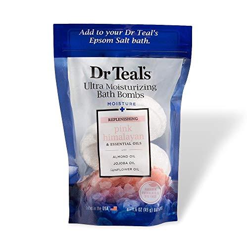 Dr Teal'S - Dr. Teal's Pink Himalayan Moisture Bomb Bath Soaks 6.4oz, pack of 4