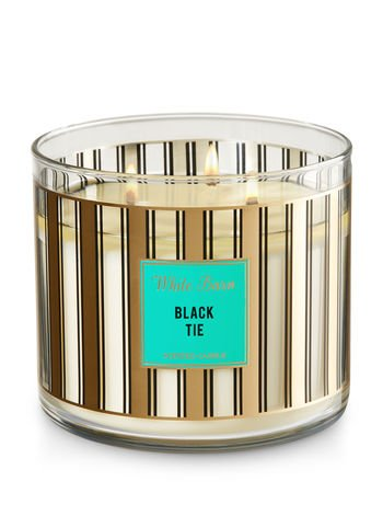 Bath & Body Works - Bath and Body Works White Barn 3-Wick Candle in Black Tie 14.5 Ounce