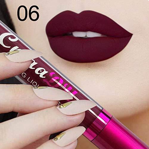 WUDEF - Lipsticks Long-Lasting Waterproof Matte Lipstick Metal Color Beauty Lip Makeup Nude Color Gold