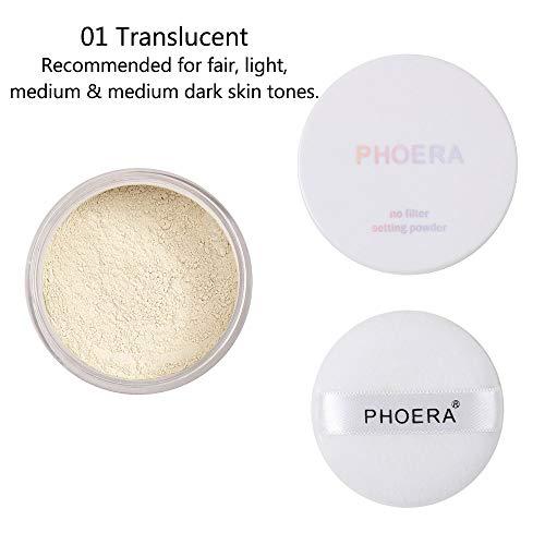 Ulanda-Makeup - Loose Translucent Face Powder Makeup, Ulanda Mineral Matte Face Powder for Makeup Finishing Foundation Smooth Setting Oil Control Concealer (01# Translucent)
