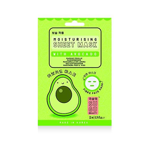 SUGU - SUGU Korean Moisturizing Avocado Face Sheet Masks, 12-Count