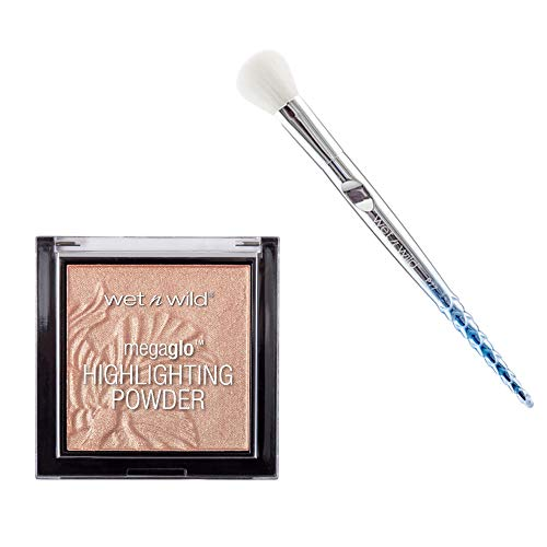 Red Valentines - Wet N Wild Highlighter Precious Petal Pro Brush Set - 2 In One Set Wet N Wild Highlighter Pro Brush P77 With Precious Petal Highlighter!