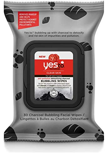 Yes To - Tomatoes Detoxifying Charcoal Anti-pollution Bubbling Wipes