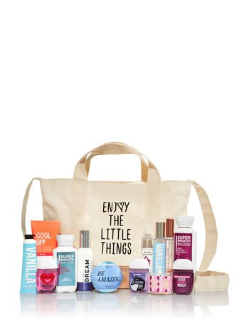 "Bath & Body Works - Bath & Body Works FAVORITE ""LITTLE THINGS"" Mini Tote with 13 Products"