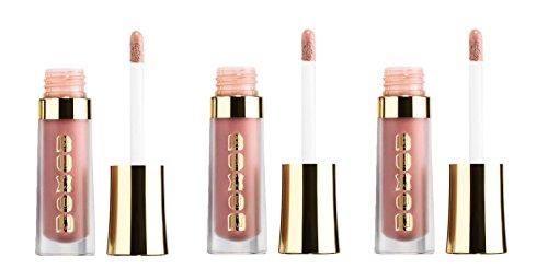 Buxom - Buxom Mini Lip Polish in Blushing Margarita 0.07 fl oz/ 2 ml - Set of 3 & Make-up Bag