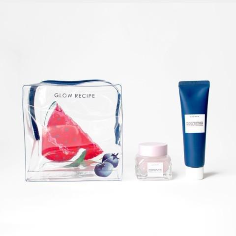 Glow Recipe - GLOW RECIPE Glow Box Bag: Blueberry Bounce Gentle Cleanser (25ml) & Watermelon Glow Sleeping Mask (20ml)