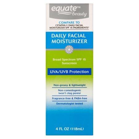 Equate Beauty. - Equate Beauty Daily Facial Moisturizer Sunscreen Broad Spectrum, SPF 15, 4 Oz