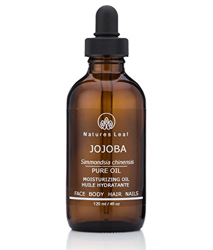 Natures Leaf - Natures Leaf Organic Golden Jojoba Oil 100% Pure Cold Pressed/non-GMO/Unrefined / Frizzy's, Split Ends, Beards, Lips, Cuticles, Brittle Nails, Acne, Fade Stretch Marks, Dry Skin