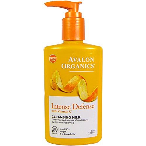Avalon Organics - Avalon Organics, Intense Defense with Vitamin C, Cleansing Milk, 8.5 fl oz (251 ml)