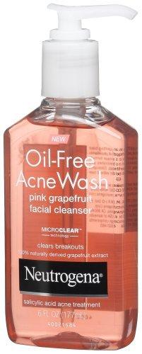Neutrogena - Neutrogena Oil-Free Acne Wash Facial Cleanser, Pink Grapefruit, 6 Ounce (Pack of 2)