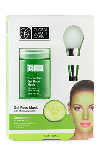 Global Beauty Care - Green, Cucumber Gel Face Mask with Applicator