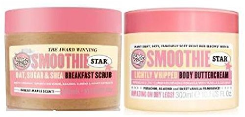 Soap & Glory - Soap & Glory Smoothie Star Breakfast Body Scrub 300ml & Soap & Glory Smoothie Star Body Buttercream 300mlSold by Mary Jane & Despatched within Double Wall Box by Soap And Glory