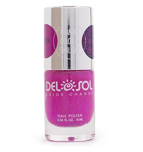 Del Sol Color Change - Del Sol Color Changing Nail Polish, Quick Dry Lacquer that Changes Color in the Sun! 0.5 ounce (15ML) Full Size Bottle (Sunshine and Memories)