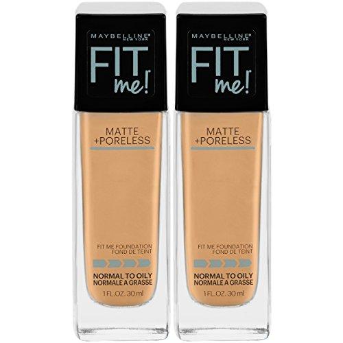 Maybelline - Maybelline New York Fit Me Matte + Poreless Liquid Foundation Makeup, Natural Beige, 2 Count