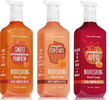 Bath & Body Works - Bath and Body Works Sweet Cinnamon Pumpkin, Pumkin Cupcake and Pumpkin Apple Hand Soap. 8 Oz