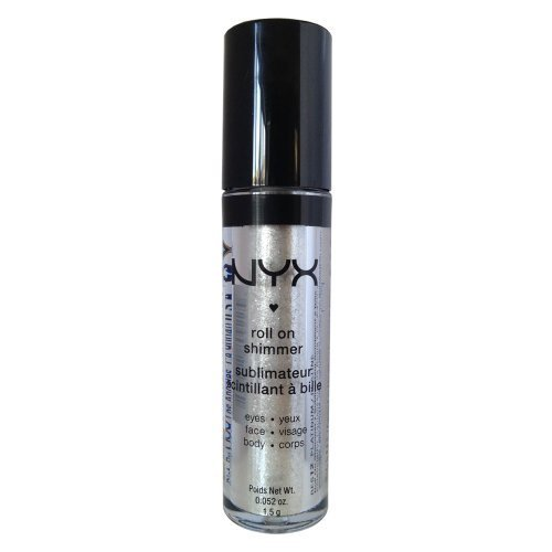 NYX - NYX Roll on Eye Shimmer / Platinum-Ice White w Silver Glitter for Face,Eyes&Body