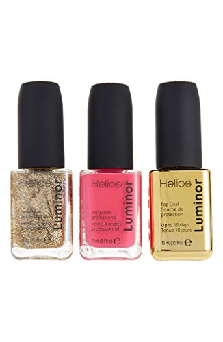 Helios - Luminor Professional Nail Polish Set, Pink and Gold Set