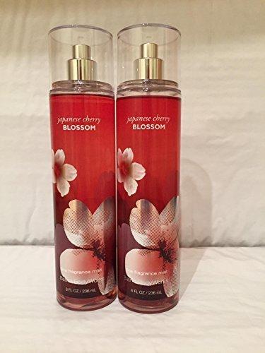 Bath & Body Works - Japanese Cherry Blossom Fragrance Mist 8oz each (Set of 2)