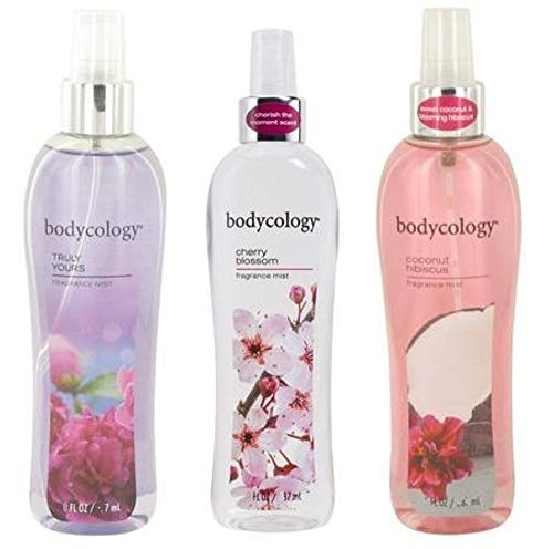Bodycology - Bodycology Floral Dreams Fragrance Mist. 3 Piece Set. Truly Yours, Cherry Blossom & Coconut Hibiscus