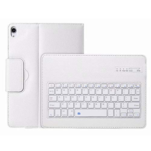 Amaping - Amaping Detachable Smart Bluetooth Keyboard Soft Leather Case Cover For iPad Pro 11'' 2018 (White)